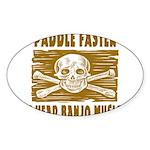 Paddle Faster Hear Banjos Sticker (Oval 10 pk)