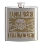 Paddle Faster Hear Banjos Flask