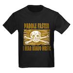 Paddle Faster Hear Banjos Kids Dark T-Shirt