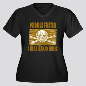 Paddle Faster Hear Banjos Women's Plus Size V-Neck