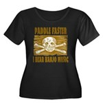 Paddle Faster Hear Banjos Women's Plus Size Scoop