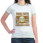 Paddle Faster Hear Banjos Jr. Ringer T-Shirt