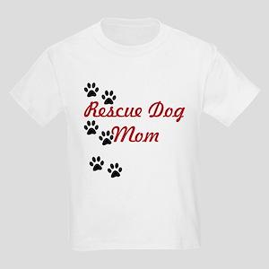 Rescue Dog Mom Kids Light T-Shirt