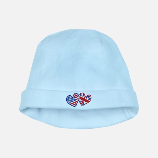 Patriotic Peace Sign and USA Flag baby hat