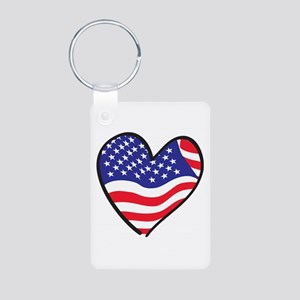 Patriotic Peace Sign and USA Flag Aluminum Photo K