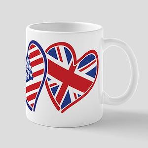 Patriotic Peace Sign and USA Flag Mug