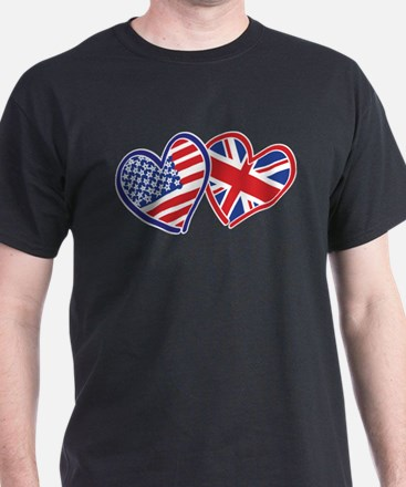 Patriotic Peace Sign and USA Flag T-Shirt