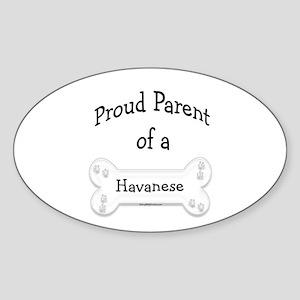 Proud Parent of a Havanese Oval Sticker