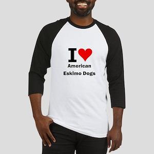 I Love American Eskimo Dogs Baseball Jersey