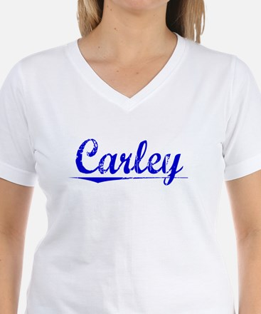 Carley, Blue, Aged Shirt