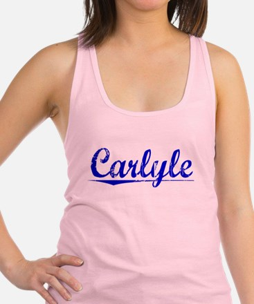 Carlyle, Blue, Aged Racerback Tank Top