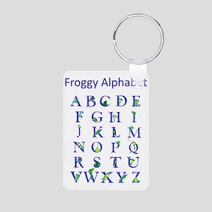 Froggy Alphabet Aluminum Photo Keychain
