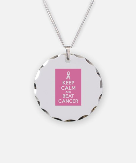 Keep calm and beat cancer Necklace