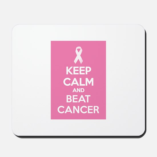 Keep calm and beat cancer Mousepad