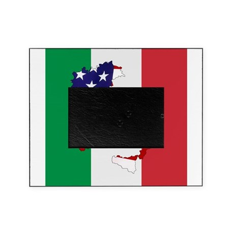 7x7 Italian flag american boot Picture Frame by dominickthedonkey