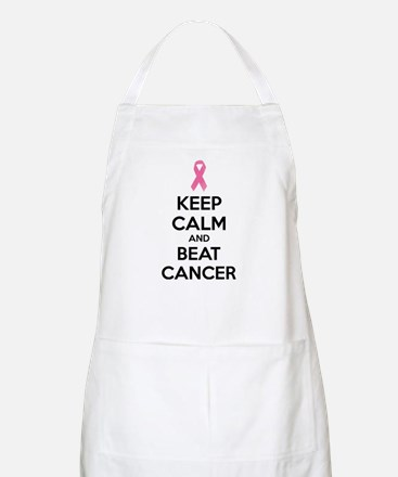 Keep calm and beat cancer Apron