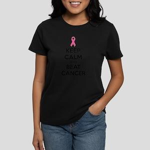 Keep calm and beat cancer Women's Dark T-Shirt