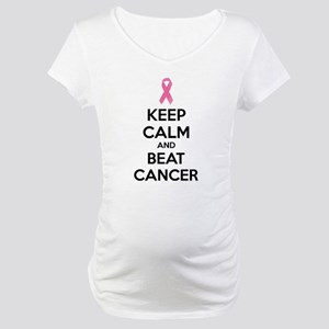 Keep calm and beat cancer Maternity T-Shirt