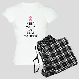 Keep calm and beat cancer Women's Light Pajamas
