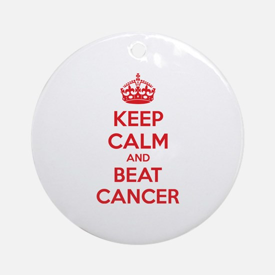 Keep calm and beat cancer Ornament (Round)