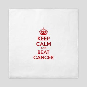Keep calm and beat cancer Queen Duvet