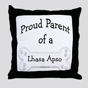 Proud Parent of a Lhasa Apso Throw Pillow