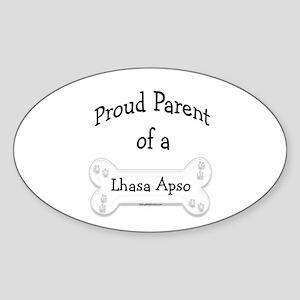 Proud Parent of a Lhasa Apso Oval Sticker