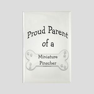 Proud Parent Miniature Pinscher Rectangle Magnet