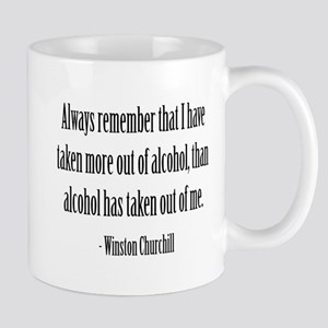 Always remember,... Winston Churchill Mug