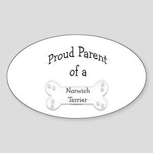 Proud Parent of a Norwich Terrier Oval Sticker