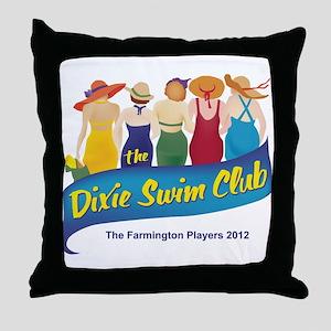 Dixie Swim Club Logo Throw Pillow