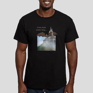 Dragon Castle Men's Fitted T-Shirt (dark)