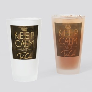 Keep Calm and Take Care Drinking Glass