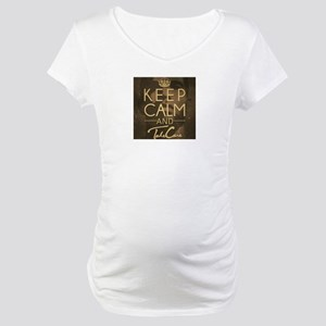 Keep Calm and Take Care Maternity T-Shirt
