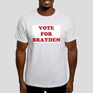 VOTE FOR BRAYDEN  Ash Grey T-Shirt