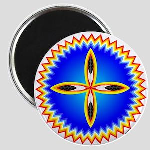 EAGLE FEATHER CROSS MEDALLION Magnet