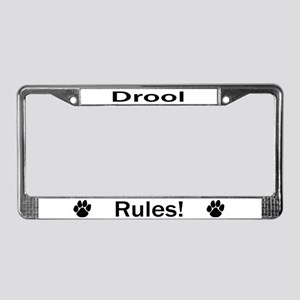 Drool Rules! License Plate Frame