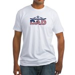 Fathers Day All American Dad Fitted T-Shirt