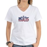 Fathers Day All American Dad Women's V-Neck T-Shir