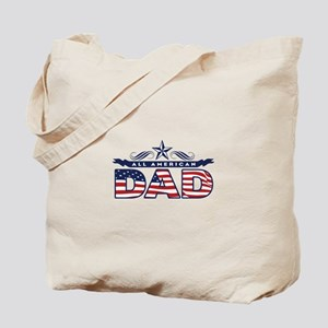 Fathers Day All American Dad Tote Bag