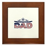 Fathers Day All American Dad Framed Tile