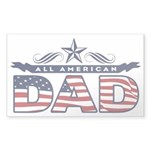 Fathers Day All American Dad Sticker (Rectangle)