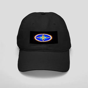 EAGLE FEATHER CROSS MEDALLION Black Cap