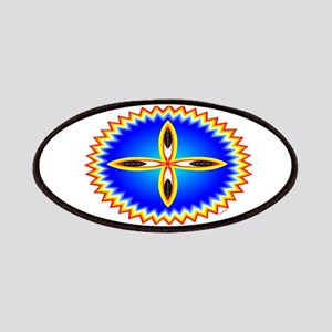 EAGLE FEATHER CROSS MEDALLION Patches