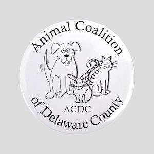 """ACDC logo 3.5"""" Button"""