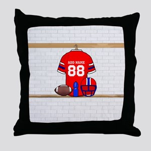 Personalized Football Grid iron jersey Throw Pillo