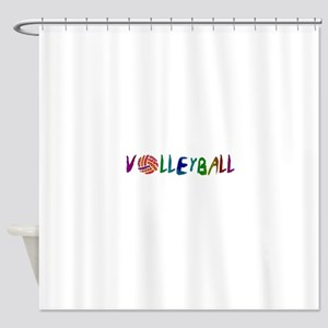 VOLLEYBALL3 Shower Curtain