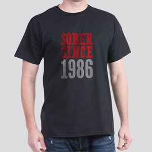 Sober Since 1986 Dark T-Shirt
