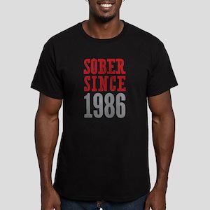 Sober Since 1986 Men's Fitted T-Shirt (dark)