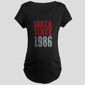 Sober Since 1986 Maternity Dark T-Shirt